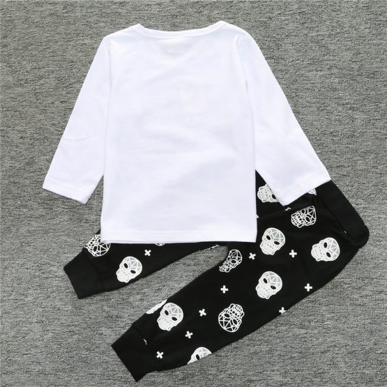 2 Pieces Hip To The Bone Long Sleeve Top + Pants Kids Clothes Set Casual Baby Outfit