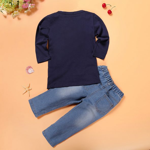 3 Pieces Summer Arvo Stylish White Polo With A Bow Tie + Navy Blue Cardigan And Denim Jeans Clothes Set fashionable Boy Outfit